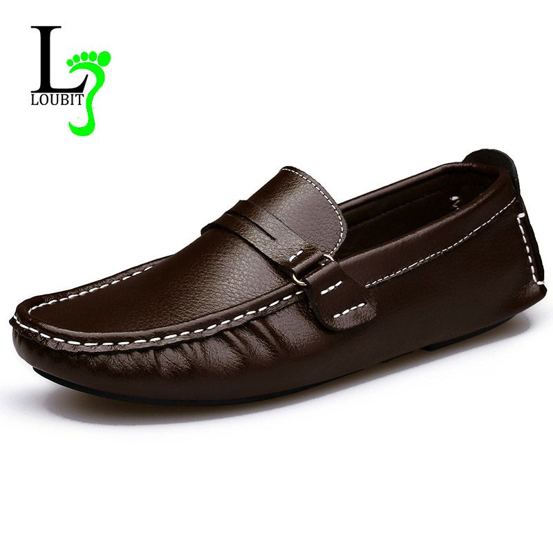 loafers 2016 genuine leather shoes fashion casual