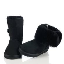 El envío gratuito! clásico zurriago impermeable de cuero genuino botas para la nieve zapatos de invierno para las mujeres(China (Mainland))