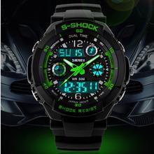 Mode Skmei sport marque montre homme numérique résistant aux chocs Quartz alarme montres-bracelets en plein air militaire LED Casual montres(China (Mainland))