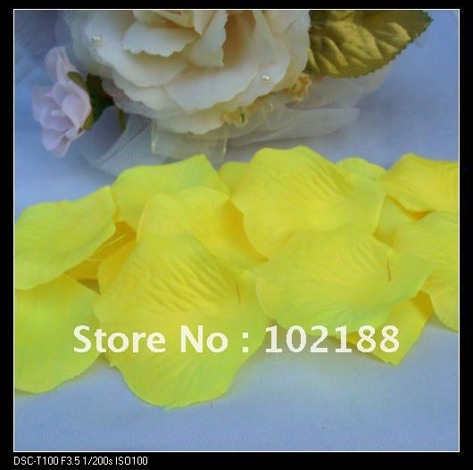 1kg(7500pcs) Yellow Silk Rose Petals Wedding Party Flower Favors - Ningguo Stylish Convertible Gift Packaging Plant store