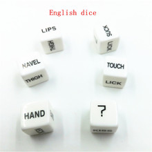 1 Pcs 16MM English Erotic Sex Dice Adult Game Acrylic Sex Toy For Couples Sexy Game 6 Sided Gambling Adult Love Romance 148
