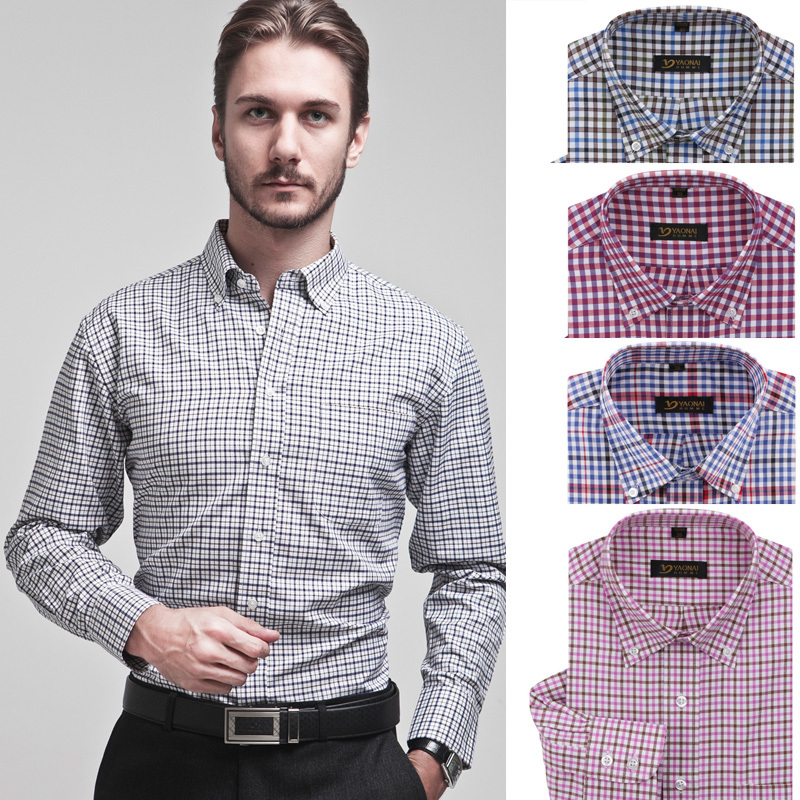 Buy mens clothing long sleeve casual for Long sleeve business shirts