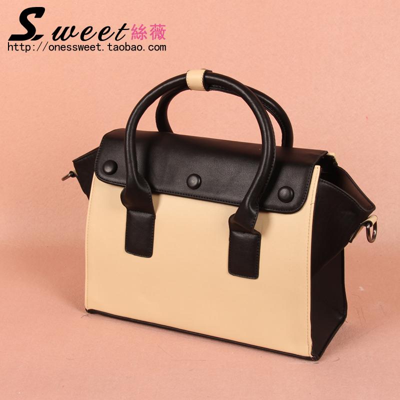 2013 women's handbag shoulder bag handbag cross-body women's bags vintage color block messenger bag