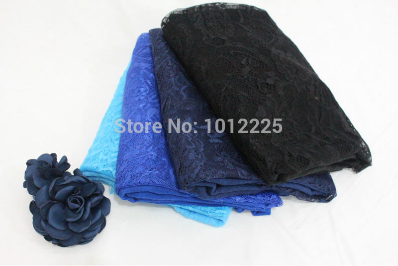 Cotton Viscose Lace hijabs floral pattern Large size shawl solid color scarves muslim head wrap high qualtity ladies scarf(China (Mainland))