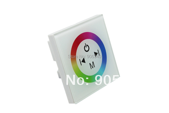 White glass Touch panel RGB full color led controller,4keys ,DC12V -24V, 3 channel ,for led strip ,wall washer.TM08 CE ROHS