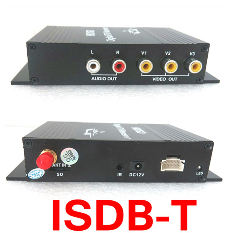 Support High Speed 250KM/H ISDB-T Brazil One seg Digital TV Tuner Receiver suitable for use South America All countries
