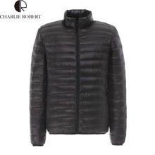 2016 Men Fall Winter Goose Down Jacket Ultra Light Thermal Fashion Travel Pocketable Portable Thin Sports Duck Coats Outerwear