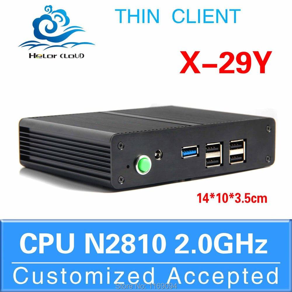 install windows 7 64bit home premium OS Ultra-small thin client pc box X-29y n2810 2.0GHZ Uhost barebone os