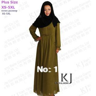 Islamic Abaya Dress Dress The New Chiffon Unique Design Dubai High Quality, Three Color Big Size,traditional Muslim Clothes,(China (Mainland))