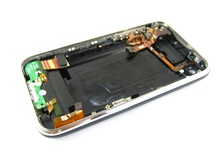 Black Full Back Cover Housing+Silent Mute Volume Button+Antenna Headphone Microphone Audio Flex Cable Ribbon for iPhone 3GS(Hong Kong)