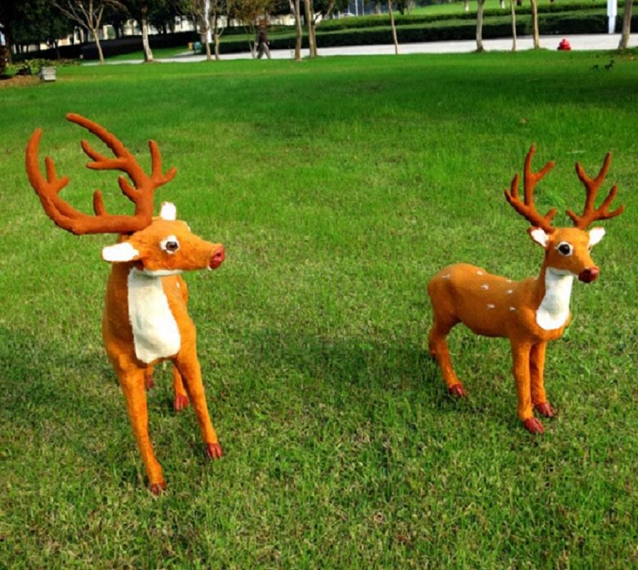 Popular outdoor christmas reindeer decorations buy cheap for Outdoor reindeer decorations