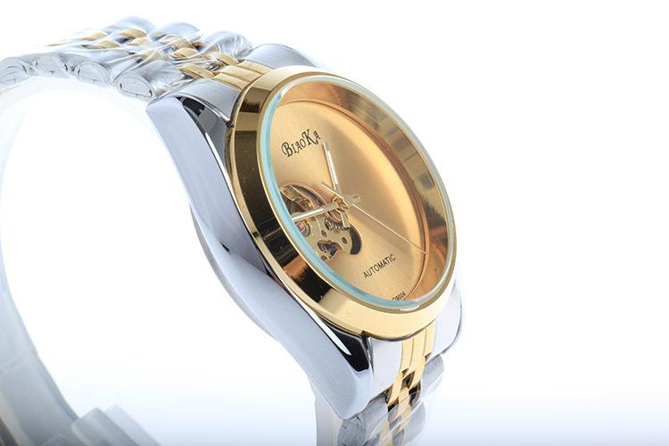 2016 ПОСЛЕДНИМ BIAOKA ЗОЛОТО механические часы Лучший Бренд Класса Люкс автоматические часы мужчины 20 мм из нержавеющей стали скелет reloj hombre