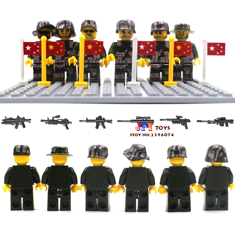 Wholesale 10sets bricks model building girl kits blocks China Military Modern Battlefield Navy Swat Police(China (Mainland))