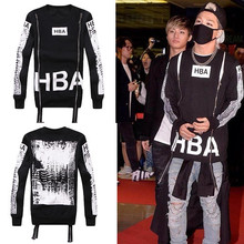 Autumn/Winter mens hba sweatshirt o-neck  zipper Personality design 3D print on back fleece hip hop hoodies man hba hoodie(China (Mainland))