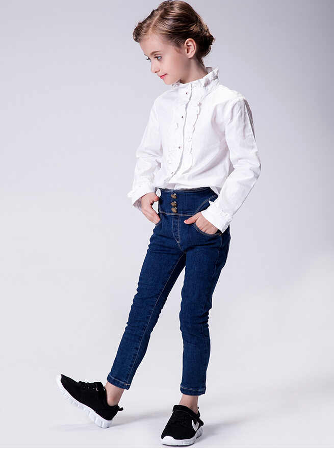 Kids High Waisted Jeans
