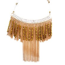 2016 New Fashion Charm Zinc Alloy Tassel Necklace For Women Popular Handmake Chain Duplex Slide Pendant Necklaces Jewelry.(China (Mainland))