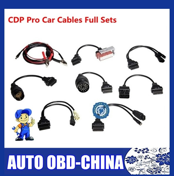 2015 Best Selling Car Cables CDP Plus Pro For Multi-Brand Cars OBDII Car Connector Diagnostic Car Cable Scanner 8 Full set(China (Mainland))