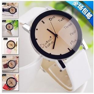 Fashion girls watch dial size electronic watch trend strap ladies watch(China (Mainland))