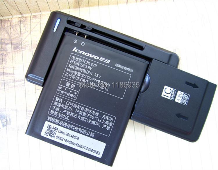 3шт / комплект = 2x lenovo bl229 аккумулятор 2500 мач для lenovo a8 a808t a806 мобильный телефон аккумулятор + 1x стена аккумулятор зарядное устройство