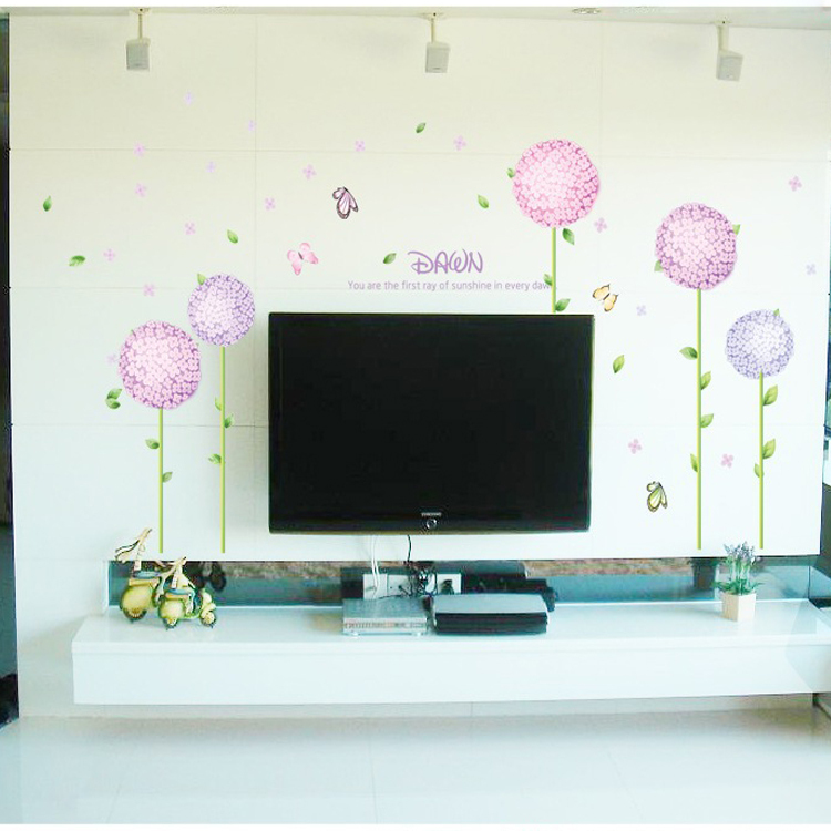 2015 hot sale home decor cheap sell 1 piece flowers wall for House decor sale