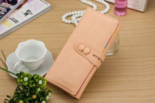 Clutch Checkbook Change Bag Women's Purse Handbag Ladies Wallet Cute Candy Color(China (Mainland))