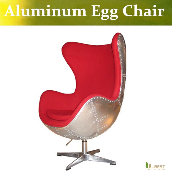 Buy u best aluminum egg chair fiberglass egg chair with fabric cushion and - Fiberglass egg chair ...
