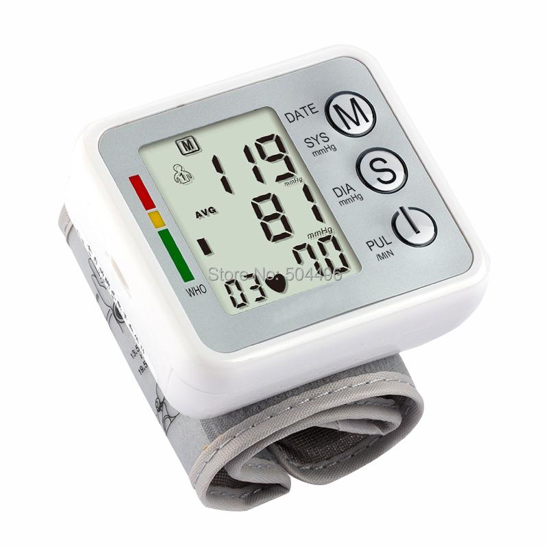 Wrist Automatic Digital Blood Pressure and Pulse Monitor,heart beat,Sphygmomanometer LCD screen(China (Mainland))