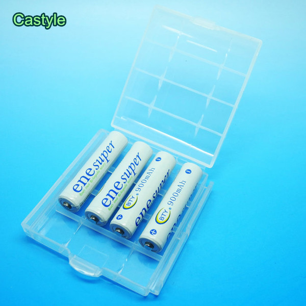 BTY Ene super 4PCS AAA 900mAh 1.2V Rechargeable Battery High Quality NI-MH Battery+ white box(China (Mainland))