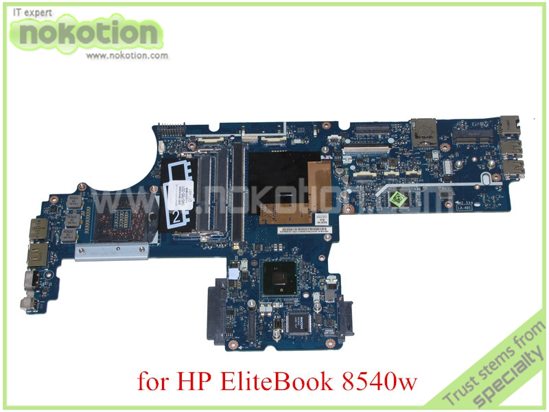 Фотография laptop motherboard for hp EliteBook 8540w 595765-001 LA-4951P  QM57 GMA HD DDR3 with graphics slot