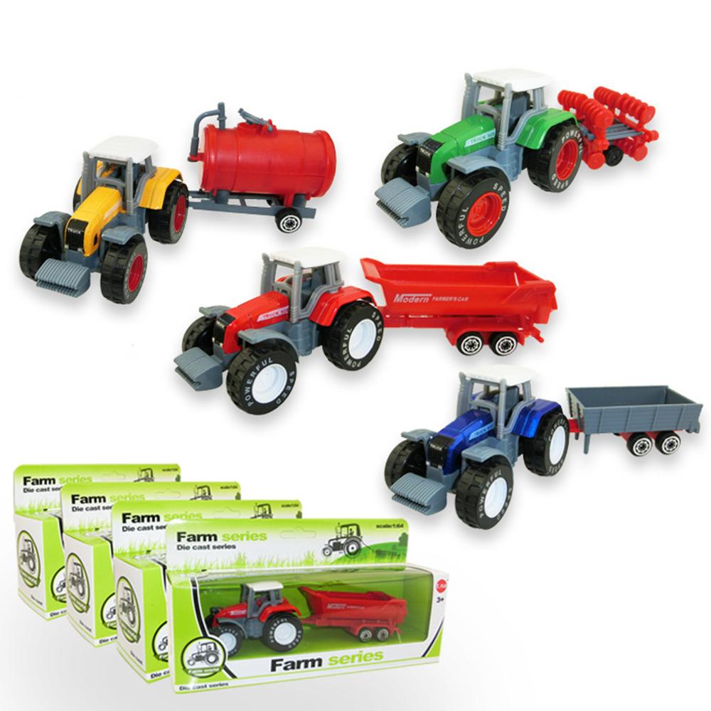 Free Shipping Children's Toys Farmer Farm Tractor Planting Machine Sprinkler Inertia Model Engineering Car(China (Mainland))