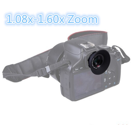 1.08x-1.60x Zoom Viewfinder Eyepiece Magnifier for Canon Nikon Pentax Sony Olympus Fujifilm Samsung Sigma SLR Cameras(China (Mainland))