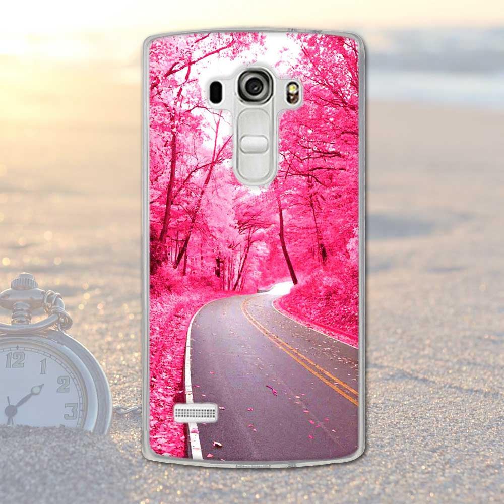 Phone Case For LG G4S G4 Beat G4s H736 G4 S H735 Soft TPU Silicon Flowers Scenery Mobile Phone Cover For LG G4 Beat / G4S Bags