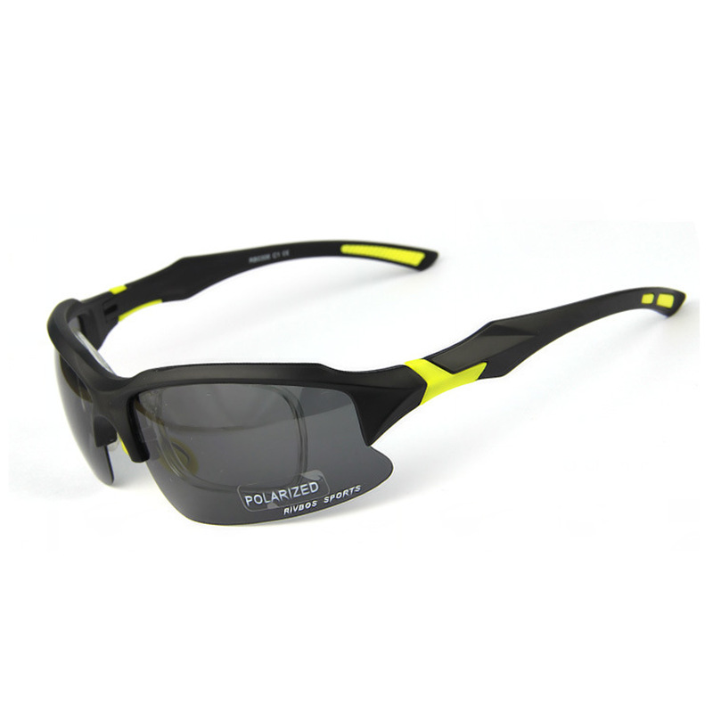 Professional Cycling Mens Biker Glasses Semi-Rimless Frame Polarized Gray Lens Protective Bicycle Eyewear Motorcycle Sunglasses(China (Mainland))