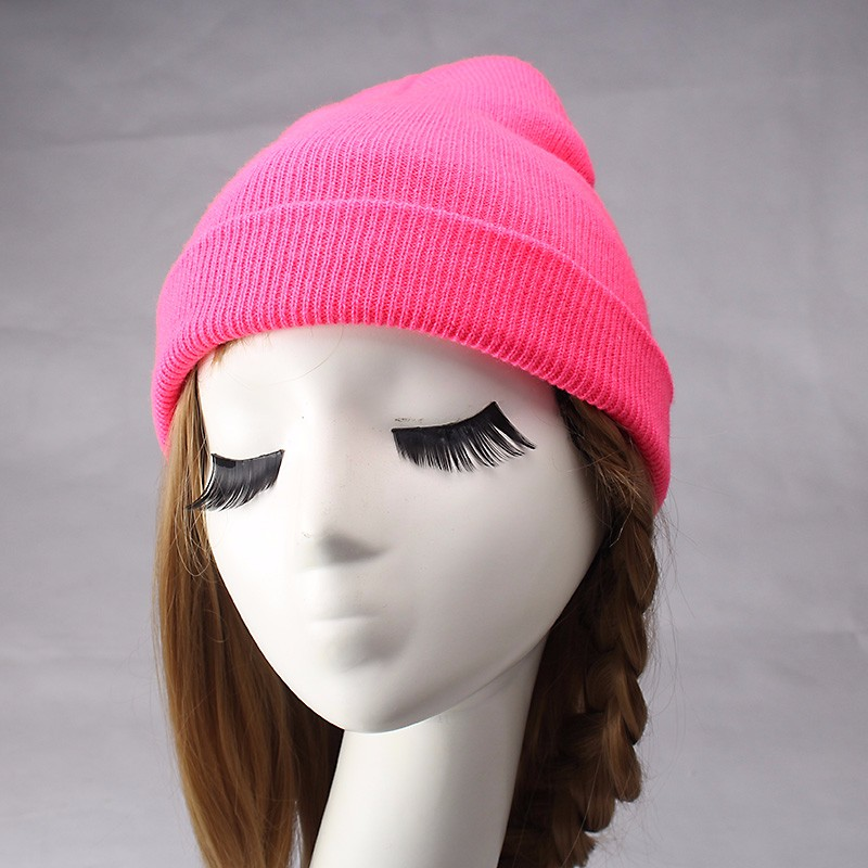 Women's Hats Cap Solid Color Hat Female Winter Head Accessories Knitted Hats Caps Ladies Spring and Autumn