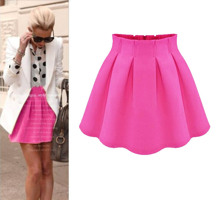 2015 Summer Style Spring And Summer Clothing Card Fashion Street Shoot Chiffon Pleated Skirt