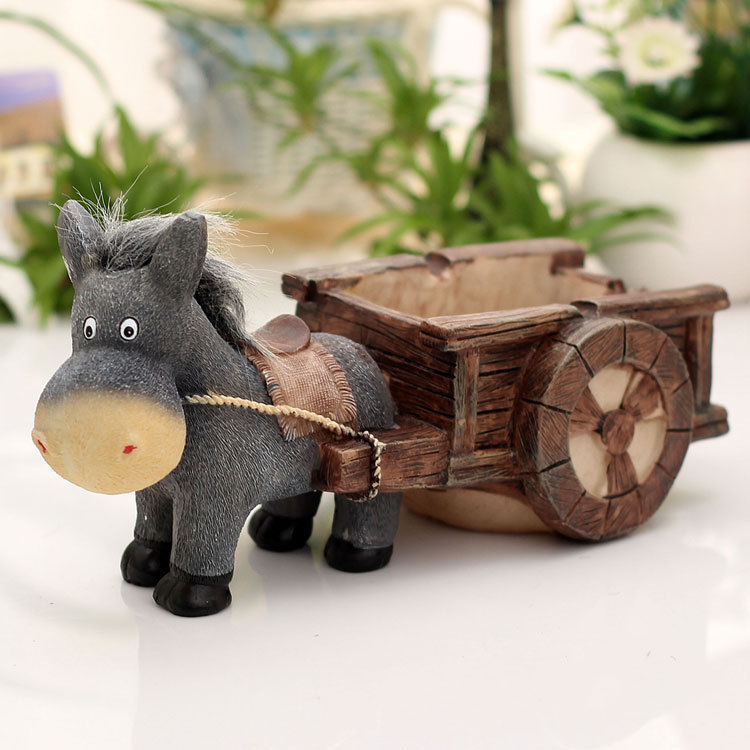 Donkey Cart Figurine Cigarette Ashtray Decor Resin Tobacco Ash Tray Smoking Utility Novelty Trinket Ornament Craft Accessories(China (Mainland))