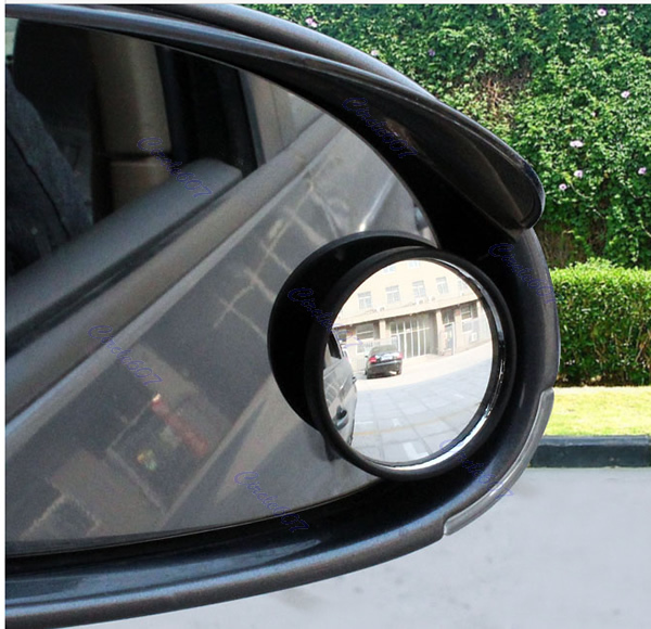 1 Pair New Driver 2 Side Wide Angle Round Convex Car Accessories Vehicle Mirror Blind Spot Auto RearView Drop Shipping(China (Mainland))