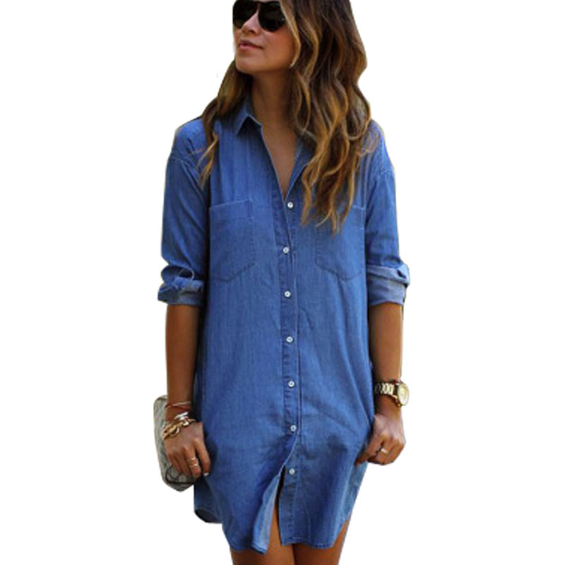 21 model dress shirt and jeans women for Blue denim shirt for womens