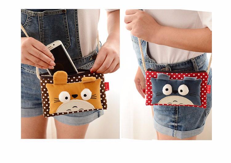 3D женщины холст мультфильм маленький милый портмоне ключевой автомобильный телефон чехол мешок денег, Девушки молния Kawaii монет кошелек мини-сумка сумки