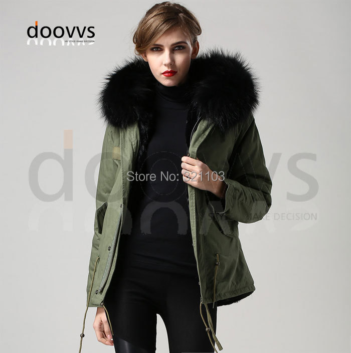Parka Hooded Fur Collar Winter Jacket Women Coat Plus Size S-3XL Slim Thicken Womens Coats Warm Jackets - foxfurs store