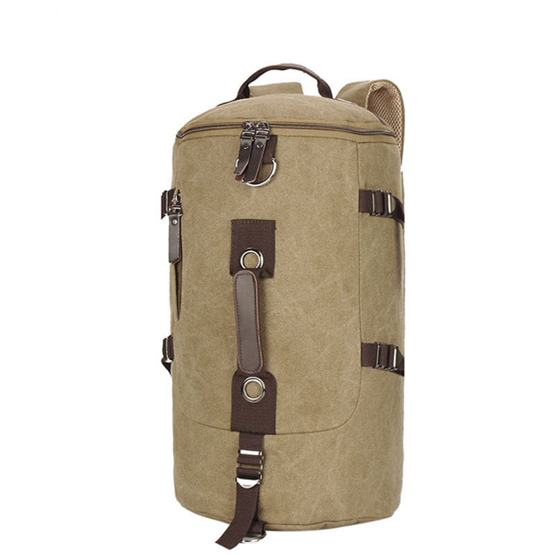 Hot Men's Retro Military Solid Canvas Rucksack Fashion Outdoor Casual Waterproof Traveling Bag 43x28x20cm(China (Mainland))