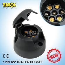 TIROL T22779 New 7-Pin Trailer Socket  Black frosted materials 12V Towbar Towing Socket N Type -Vehicle End(China (Mainland))
