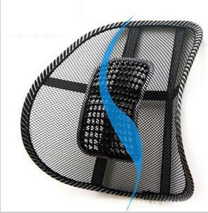 Free shipping Promotion Car Seat Office Chair Massage Back Lumbar Support Mesh Ventilate Cushion Pad Support(China (Mainland))