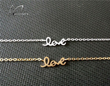 2014 Fine Jewelry Top Quality Gift Idea Vintage Love Letter Modern Cuff Bracelet in Gold/Silver