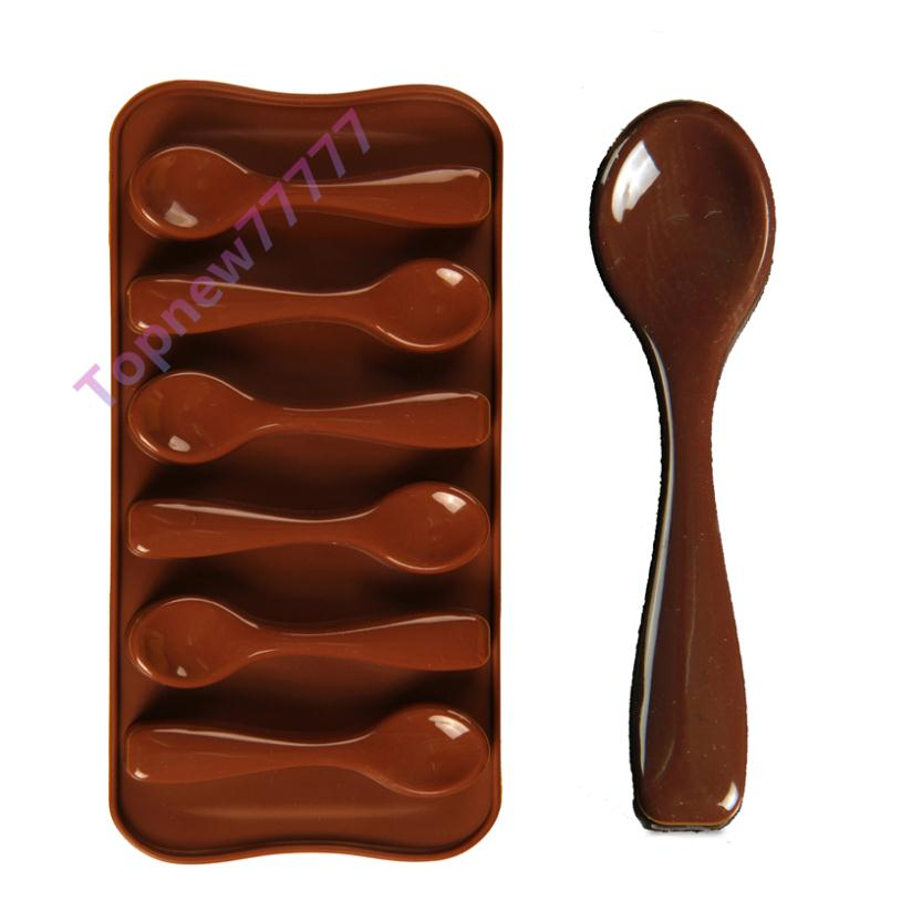 Topnew Spoon Styling Cake Decorating Silicone Bakeware Fondant Chocolate Mold DIY Pastry Cooking Tools(China (Mainland))