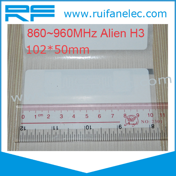 Free Shipping 200pcs/lot Long Range UHF RFID Label/ UHF RFID Tag for Warehouse Management(China (Mainland))