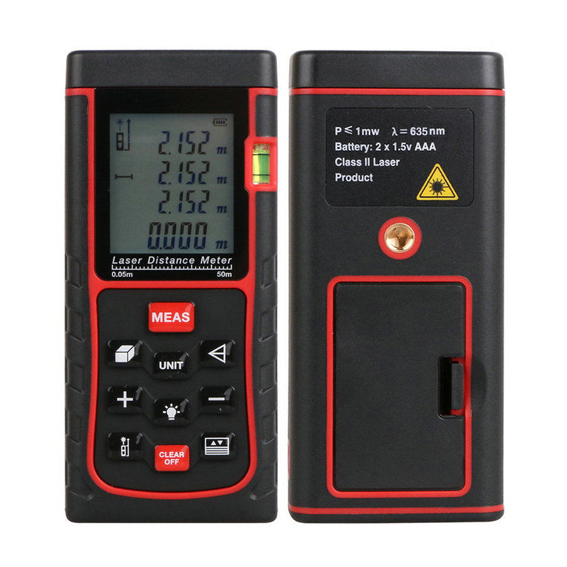 RZ-E50II 50m Mini Digital Laser Distance Meter Diastimeter Range Finder Measure<br><br>Aliexpress