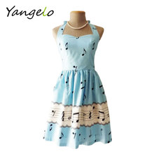 Buy 2017 fashion women summer dress sexy backless summer dress sleeves sweet music note print party Cute vintage dress for $12.99 in AliExpress store