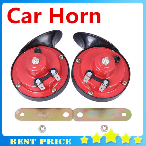 2pcs 12V Snail Shape Car Horn Loud Car Auto Truck Electric Vehicle Horn Sound Level 110dB motorcycle car styling free shipping(China (Mainland))