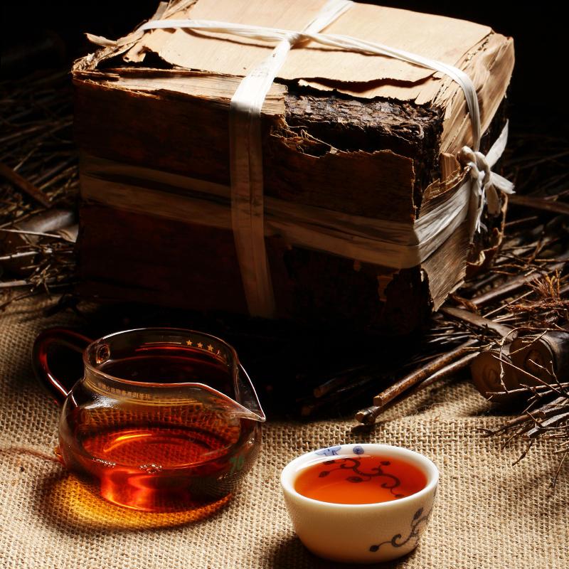 Гаджет  Made in 1970 Ripe Pu er Tea 250g Oldest Puer Tea Ancestor Antique Honey Sweet Dull-red Puerh Tea Ancient Tree Pu
